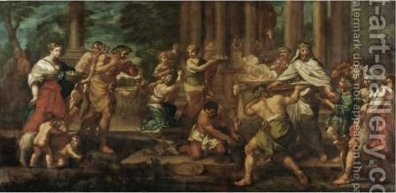 A Sacrifice To Diana by (after) Cortona, Pietro da (Berrettini) - Reproduction Oil Painting