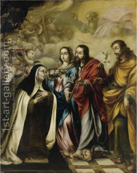 The Vision Of Saint Catherine Of Siena by (after) Juan De Valdes Leal - Reproduction Oil Painting