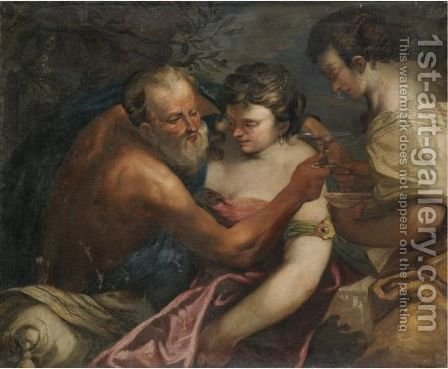 Lot And His Daughters by (after) Pietro Liberi - Reproduction Oil Painting