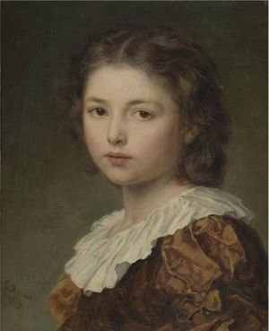 Reproduction oil paintings - Ludwig Knaus - Portrait Of A Young Girl