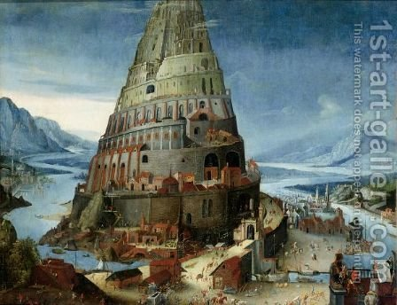 The Tower Of Babel by (after) Tobias Van Haecht (see Verhaecht) - Reproduction Oil Painting