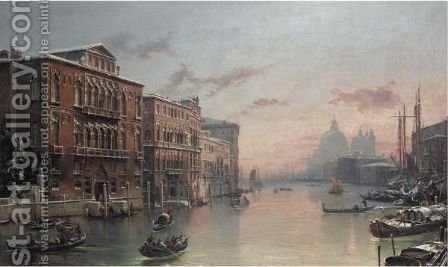 The Grand Canal, Venice, In The Snow by (after) David Roberts - Reproduction Oil Painting