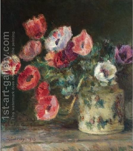 Bouquet D'Anemones by Albert Lebourg - Reproduction Oil Painting