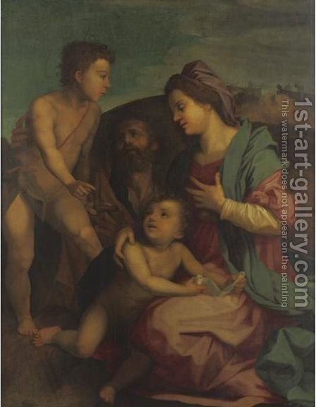 The Holy Family by (after) Andrea Del Sarto - Reproduction Oil Painting