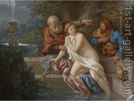 Susanna And The Elders by (after) Louis Lagrenee - Reproduction Oil Painting