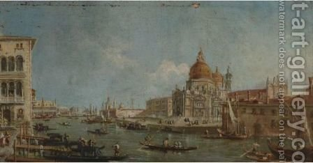 View Of Santa Maria Della Salute, Venice by (after) (Giovanni Antonio Canal) Canaletto - Reproduction Oil Painting
