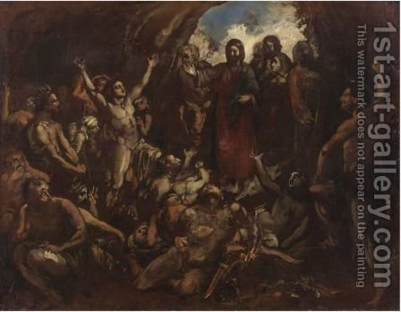 Christ's Descent Into Limbo by (after) Francisco De Goya Y Lucientes - Reproduction Oil Painting