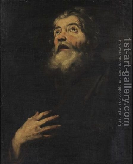 Saint Andrew 2 by (after) Jusepe De Ribera - Reproduction Oil Painting