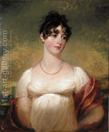 Portrait Of Mary Anne Rocke by (after) Lawrence, Sir Thomas - Reproduction Oil Painting