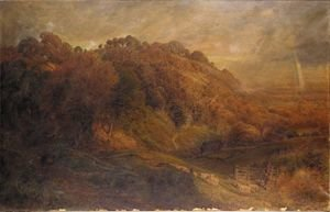 Reproduction oil paintings - John Clayton Adams - A Rainbow At Night Is The Shepherd's Delight
