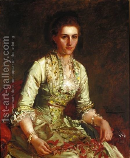 Portrait Of Edith Williams, Later Lady Boscawen by John Hanson Walker - Reproduction Oil Painting