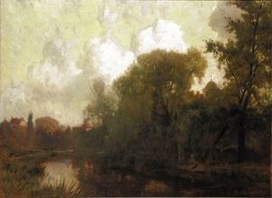 Reproduction oil paintings - Robert Noble - On The Tyne, East Linton