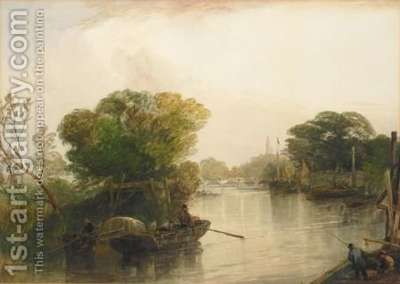 Kew Bridge by (after) John Cuthbert Salmon - Reproduction Oil Painting