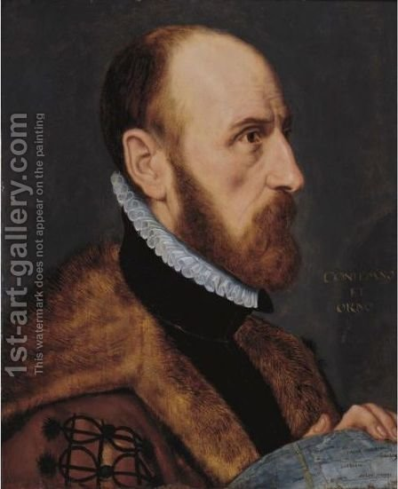 Portrait Of Abraham Ortelius, In Near Profile by (after) Adriaen Thomasz. Key - Reproduction Oil Painting