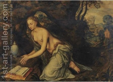 The Penitent Magdalene by (after) Jan Massys - Reproduction Oil Painting