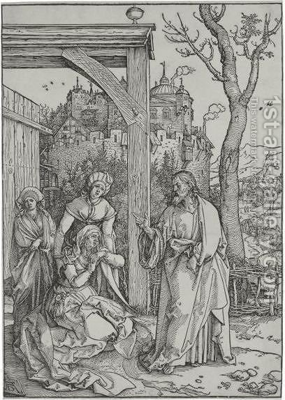 Christ Taking Leave Of His Mother 3 by Albrecht Durer - Reproduction Oil Painting