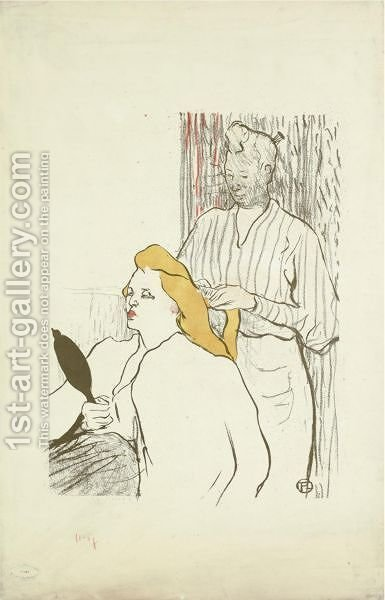 Le Coiffeur by Toulouse-Lautrec - Reproduction Oil Painting