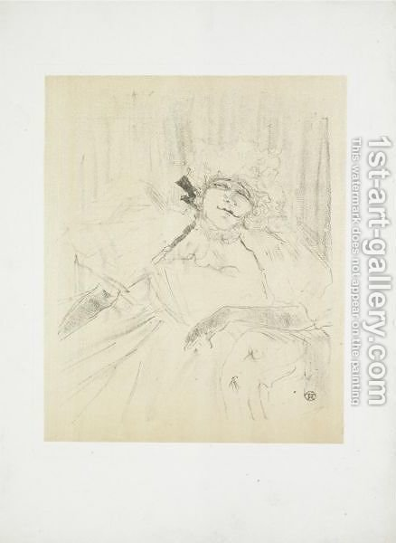 Yvette Guilbert - Chanson Ancienne by Toulouse-Lautrec - Reproduction Oil Painting