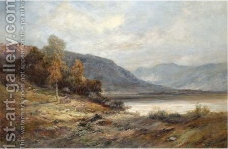 The Banks Of Loch Katrine by Alfred de Breanski - Reproduction Oil Painting