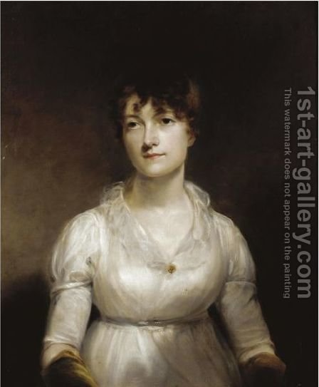 Portrait Of A Lady by (after) Of William Owen - Reproduction Oil Painting