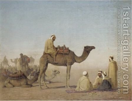 An Arab Encampment by Henrik August Ankarcrona - Reproduction Oil Painting