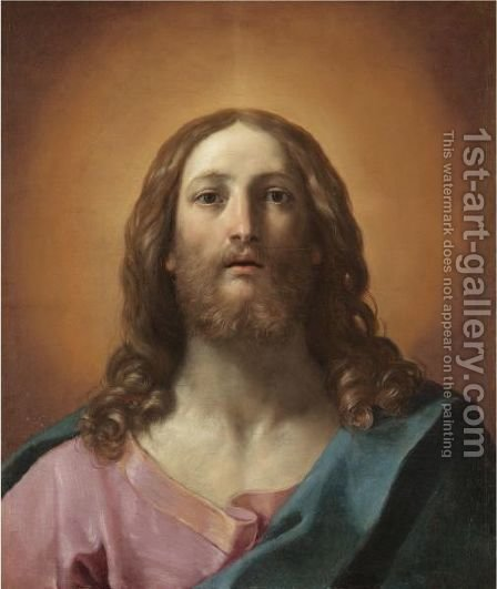 Bust Of Christ by Guido Reni - Reproduction Oil Painting