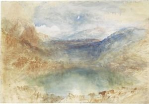 Reproduction oil paintings - Turner - A Swiss Lake, Lungernzee