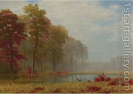 Autumn On The River by Albert Bierstadt - Reproduction Oil Painting