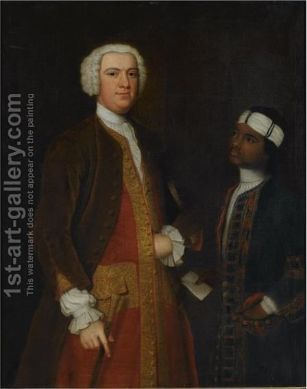 Portrait Of A West Indian Governor, Captain Alexander Thomas by (after) Highmore, Joseph - Reproduction Oil Painting