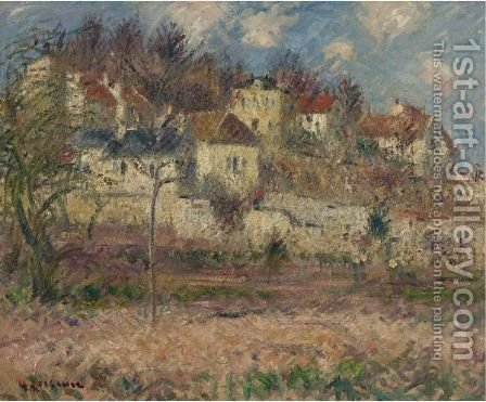 Scene De Village 2 by Gustave Loiseau - Reproduction Oil Painting
