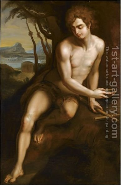 Saint John The Baptist 2 by (after) Andrea Del Sarto - Reproduction Oil Painting
