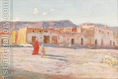 Street In Bou Saada by Alphonse Etienne Dinet - Reproduction Oil Painting