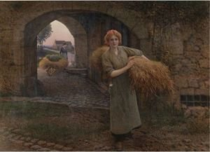 Reproduction oil paintings - Camille Felix Bellanger - Carrying The Sheaves