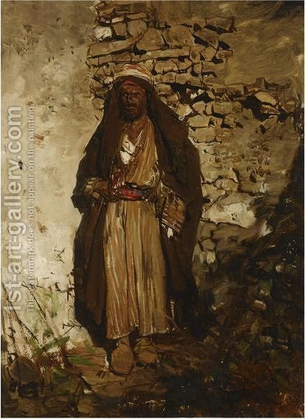The Arab by (after) Jacob Henricus Maris - Reproduction Oil Painting
