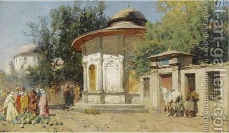 The Watermelon Merchant by Alberto Pasini - Reproduction Oil Painting