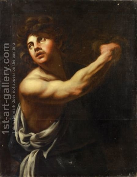 David And Goliath by (after) Simon Vouet - Reproduction Oil Painting