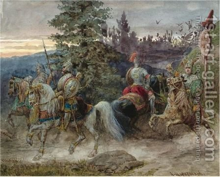 The Road To Chernomor by Adolf Jossifowitsch Charlemagne - Reproduction Oil Painting