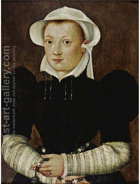 Portrait Of A Young Woman by (after) Katharina Van Hemessen - Reproduction Oil Painting