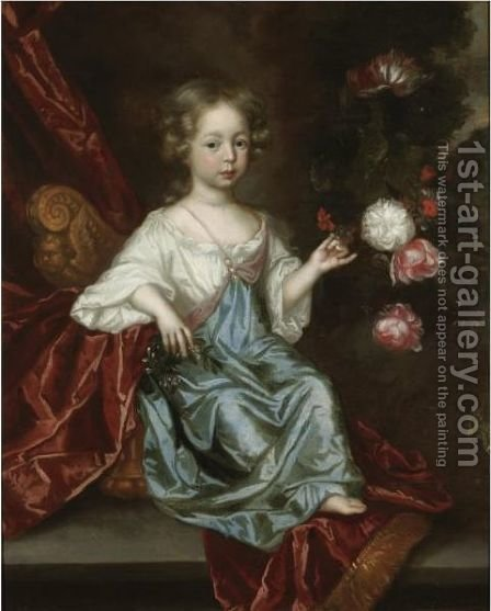 Portrait Of A Young Girl by (after) Huysmans, Jacob - Reproduction Oil Painting