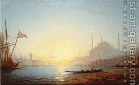View Of Constantinople by Amédée Rosier - Reproduction Oil Painting