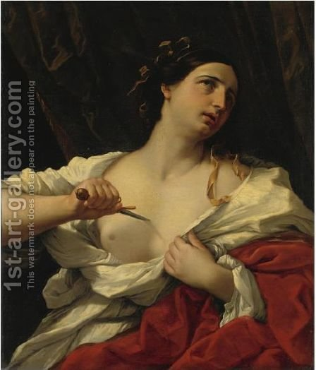 Lucrezia by (after) Guido Reni - Reproduction Oil Painting