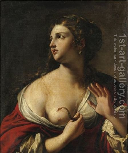 Cleopatra by (after) Antiveduto Gramatica - Reproduction Oil Painting