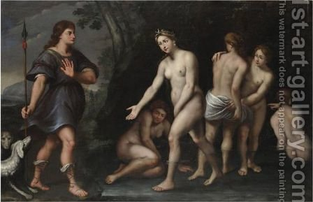 Diana E Atteone by (after) Domenichino (Domenico Zampieri) - Reproduction Oil Painting