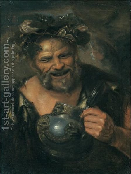 Drunken Silenus by (after) Jacob Jordaens - Reproduction Oil Painting