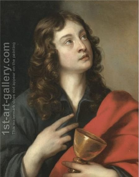 Saint John The Evangelist 3 by (after) Dyck, Sir Anthony van - Reproduction Oil Painting