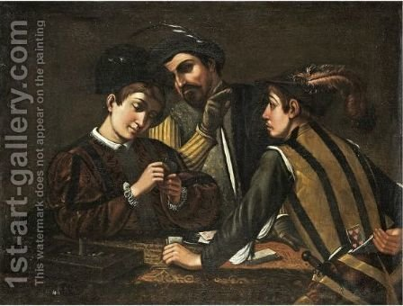 The Card Players by (after) Michelangelo Merisi Da Caravaggio - Reproduction Oil Painting