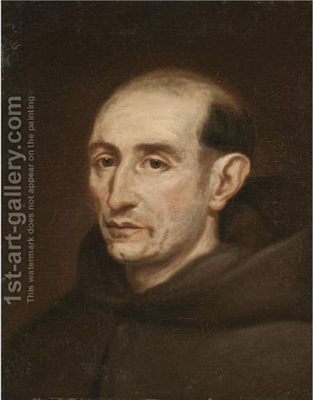 Portrait Of A Franciscan Monk, Head And Shoulders by (after) Vittore Ghislandi - Reproduction Oil Painting