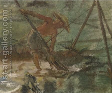 Asian Fisherman by Alexander Evgenevich Iacovleff - Reproduction Oil Painting