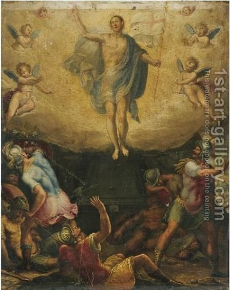 The Resurrection by (after) Federico Zuccaro - Reproduction Oil Painting