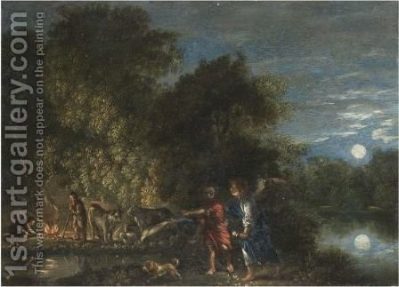 Tobias And The Angel 2 by (after) Adam Elsheimer - Reproduction Oil Painting